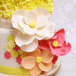 Olivia's cake flowers close up