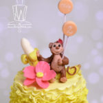 Olivias cake monkey close up