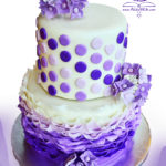 Purple bridal shower cake -shadow-logo