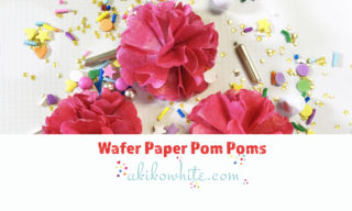 How to make pom pom flowers out of wafer paper