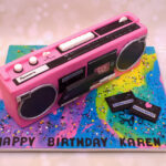 Tape deck cake