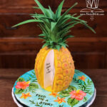 Pineapple book cake